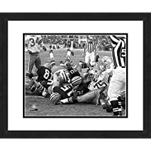 """NFL Green Bay Packers Bart Starr, Beautifully Framed and Double Matted, 18"""" x 22"""" Sports Photograph"""