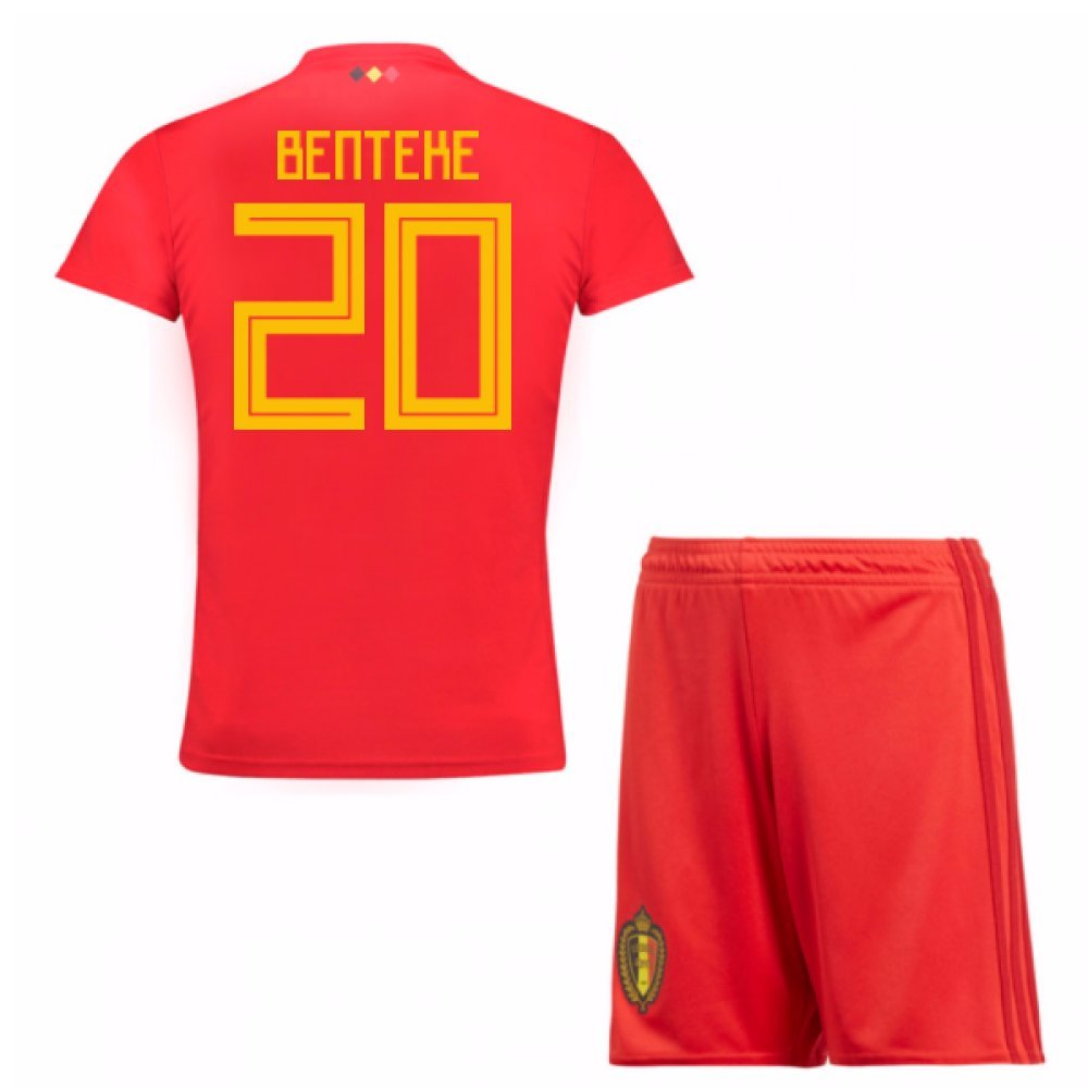 UKSoccershop 2018-19 Belgium Home Mini Kit (Christian Benteke 20)