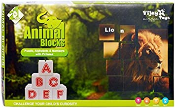2 in 1 Animal Puzzle Blocks by Vijay toys