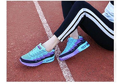 34 44EU Uomo Basse Casual Sportive Donna MIMIYAYA Porpora Fitness Scarpe Sneakers e Ginnastica Corsa Air Interior Traspirante Unisex da Running Leggero all'Aperto Rq75wH