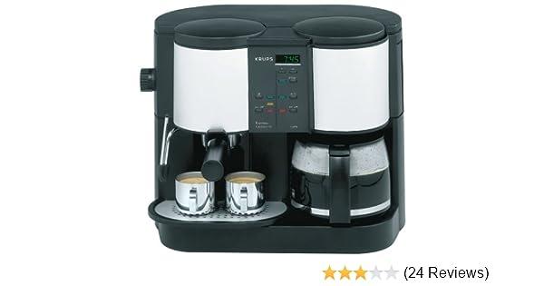 Amazon.com: Krups 888-43 Caffe Centro Time 10-Cup Coffee/Pump Espresso Machine, DISCONTINUED: Combination Coffee Espresso Machines: Kitchen & Dining