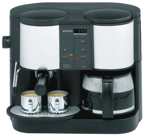 krups 888 43 caffe centro time 10 cup coffee pump espresso. Black Bedroom Furniture Sets. Home Design Ideas