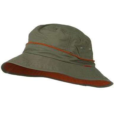 844502e52a5ae4 UV 50+ Orange Piping Talson Sun Bucket Hat - Olive at Amazon Men's ...