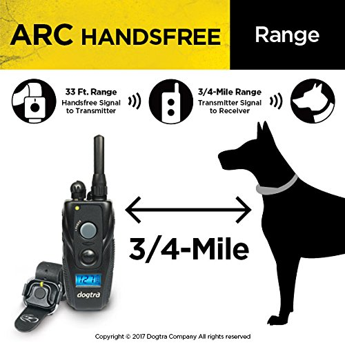 Dogtra ARC HANDSFREE Remote Training Dog Collar - 3/4 Mile Range, Hands Free Remote Controller, Waterproof, Rechargeable, Shock, Vibration - Includes PetsTEK Dog Training Clicker by Dogtra (Image #5)