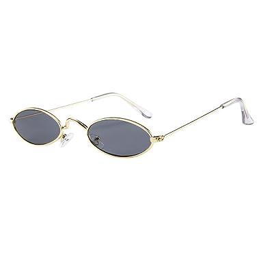 Inlefen Unisexe Vintage petites lunettes de soleil ovales Slender Metal Frame Candy couleurs lunettes R2uGeJV