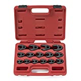 Neiko 03324A Metric Crowfoot Wrench Set for 3/8-Inch and 1/2-Inch Drive Ratchet, Jumbo Size, Cr-Mo
