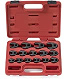 Neiko® 03324A Metric Crowfoot Wrench Set for 3/8-inch and 1/2-inch Drive Ratchet, Jumbo Size, Cr-Mo, 1 | 15-Piece Set