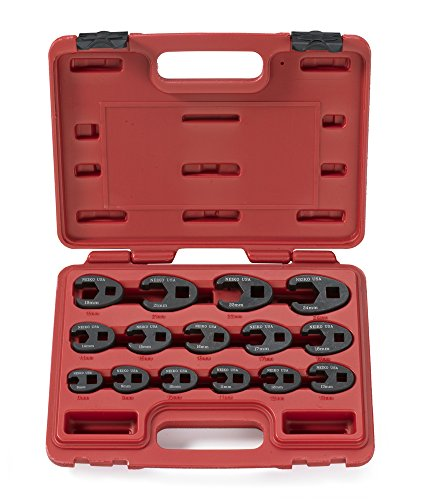 Neiko 03324A Crowfoot Wrench Set, 15 Piece | Jumbo Size