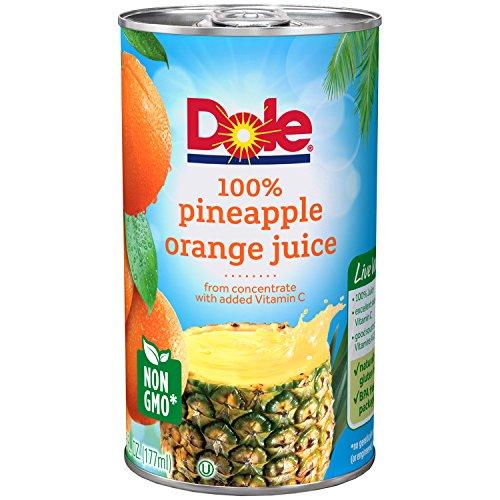 DOLE 100% Pineapple Orange Juice 6-6 fl. oz. Cans