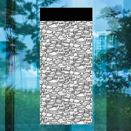 | 36x80 Inner CircleCanyon Topography Perforated Window Decal 5-Pack CGSignLab