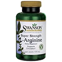 Swanson Super Strength L-Arginine (850mg, 90 Vegetarian Capsules)