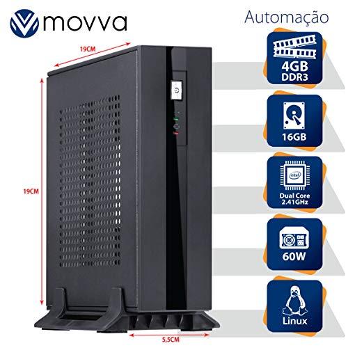 MINI COMPUTADOR LITE INTEL DUAL CORE J1800 2.41GHZ MEMÓRIA 4GB SSD 16GB HDMI/VGA FONTE EXTERNA 60W LINUX - MOVVA