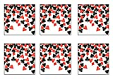 Beistle SCN313AZ6 Party Confetti, Black/Red