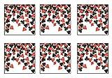 Beistle SCN313AZ6 Confetti Party, Black/Red