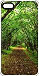 MMZ DIY PHONE CASECountry Path Through The Woods White Rubber Case for Apple iphone 5c