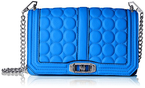 Rebecca Minkoff Love with Circle Quilt Cross Body, Bright Royal, One Size