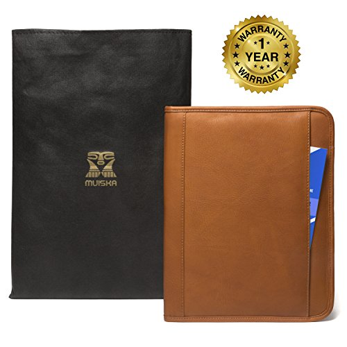 Luggage Depot USA, LLC Muiska 8.5 X 11 inch Leather Travel Business Writing Padfolio, Saddle by Muiska (Image #5)