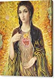 ''Immaculate Heart Of Mary Olmc'' by Smith Catholic Art, Canvas Print Wall Art, 16'' x 20'', Mirrored Gallery Wrap, Glossy Finish