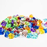 HUJI Acrylic Pirate Bulk Colored Jewels Gems Faux Diamond Crystals Treasure Gems for Tables Decorations, Vase Fillers,Wedding or Birthday Decoration, Party Favors for Arts and Crafts (1, Assorted)