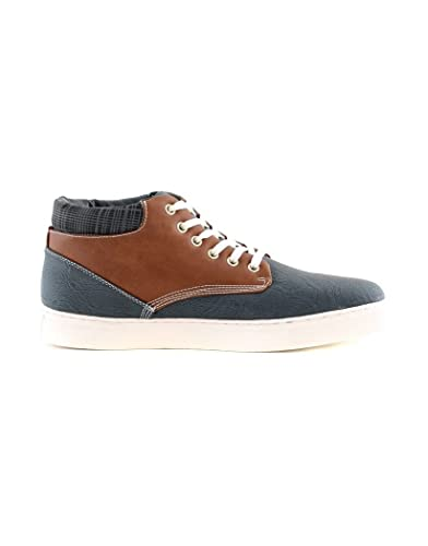 Zfzzjrol-152814-5445922 Factories And Mines Vente Zy Chaussure Basket Montante Homme Zy Y001 Bleu