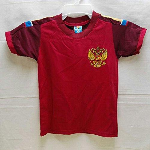 二年生名義でスリチンモイ?代引可?子供用 K127 ロシアHOME 赤 ゲームシャツ パンツ付