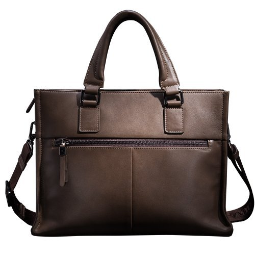 Mens Business Tote Handbag Doctor Leather Document Clutch Bag Strap by MXPBJ (Image #2)