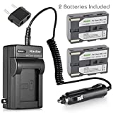 Kastar Battery (X2) & AC Travel Charger for Samsung SB-L110 SB-L220, SC-D101 SC-D103 SC-D107 SC-D130 SC-D180 SC-D23 SC-D230 SC-D24 SC-D27 SC-D6040 SC-D6550 SC-D67 SC-D77 DuoCam SC-D6040 Medion MD80566