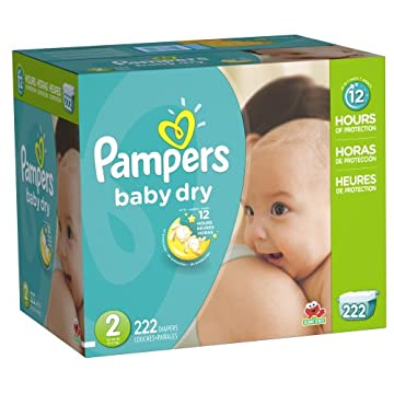 Pampers Baby Dry Diapers Economy Pack Plus (Size 2, Pack of 222)