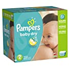 Pampers Baby Dry Diapers Economy Pack Plus, Size 2, 222 Count