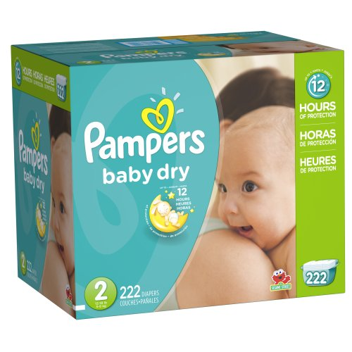 Pampers Baby Dry Diapers Size 2, 222 - Kitchen