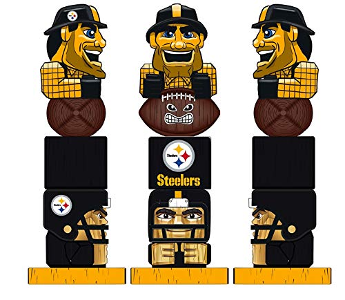 Team Sports America NFL Pittsburgh Steelers 12 Inch Tiki Totem ()