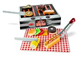 Melissa & Doug Grill and Serve BBQ Set (20 pcs) – Wooden Play Food and Accessories