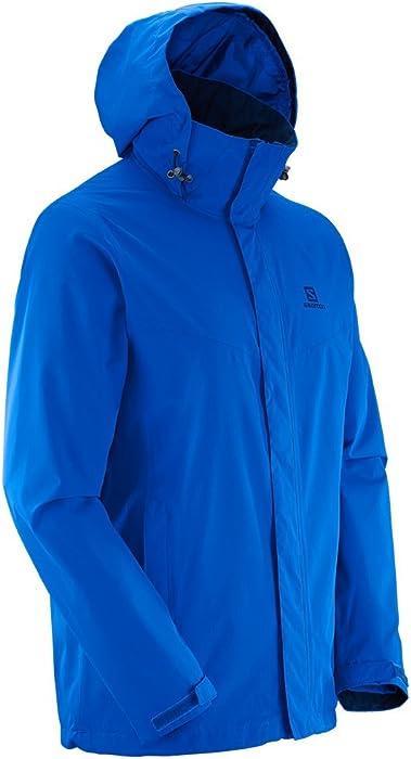 3ff6415bd851 Salomon Mens Elemental AD Hooded Waterproof Jacket (S) (Midnight ...