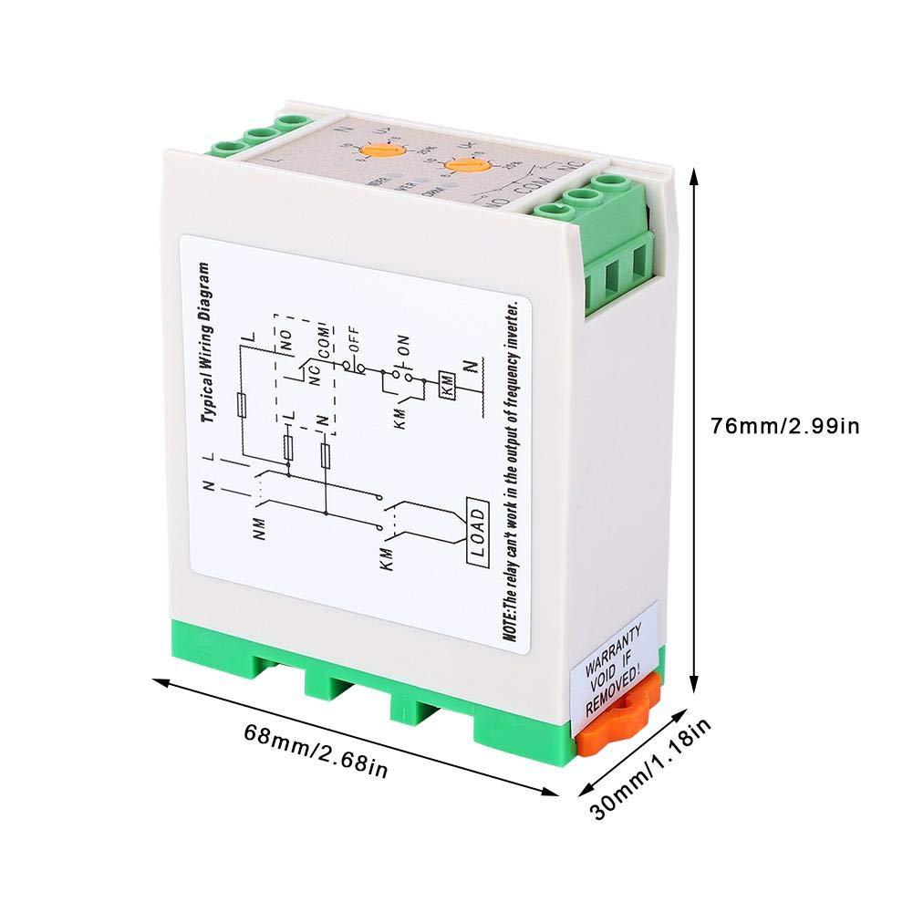 220V Adjustable Undervoltage//Overvoltage Range Single Phase Power Monitoring Relay SVR-220W Power Monitoring Relay