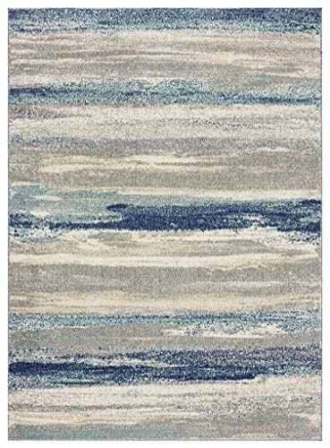 Luxe Weavers Tower Hill Abstract Blue 5×7 Area Rug