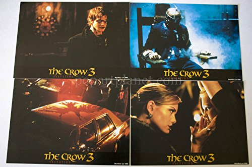 THE CROW 3 SALVATION 2000 MOVIE FRENCH PHOTO PRESS KIT 8 IMAGES ENVELOPE (2000 Press Photo)