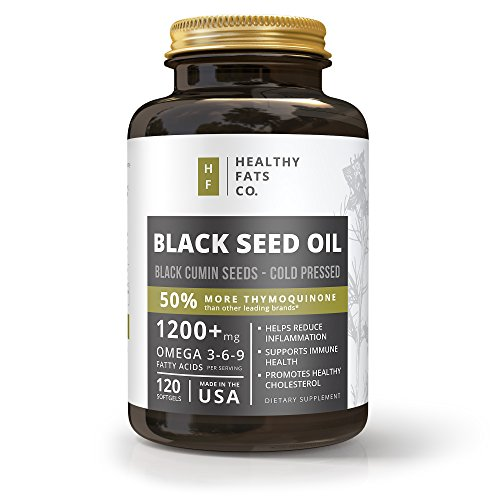1500 Seeds (Premium Organic Black Seed Oil Softgel Capsules, 1500 Milligrams Per Serving, Made from Cold Pressed Black Cumin Seeds, Highest in Thymoquinone, Pure Nigella Sativa by the Healthy Fats Co.)