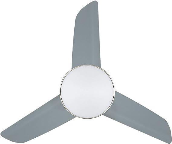TECHBREY Ventilador de Techo LED Industrial Plata CCT Seleccionable 55W Seleccionable (Cálido-Neutro-Frío): Amazon.es: Iluminación