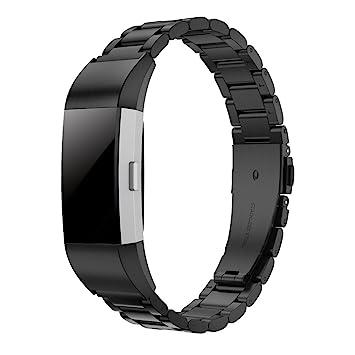 Simpeak Bracelet Compatible avec Fitbit Charge 2, Bracelet en Acier Inoxydable Compatible avec Bande de