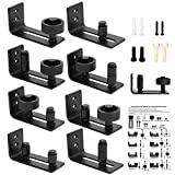 SMARTSTANDARD Adjustable Floor Guide for All Sliding Barn Door - 8 Setup Options for DIYers - Flush Design Bottom Flat Barn Door Floor Guide Stay Roller (Black)