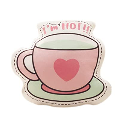 Amazon.com: Nunubee Short Plush Coffee Cup Shaped Throw ...