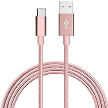 Type C, Mayshion 3.3 Ft (1M) Braided Cable with Reversible Connector for New Macbook 12 inch, ChromeBook Pixel, Nokia N1 Tablet, Asus Zen AiO and Other Devices with Type C USB, Rose Golden