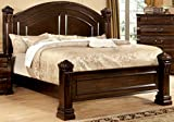 4 Poster King Bed Furniture of America Lexington Low-Poster Bed, Eastern King, Cherry