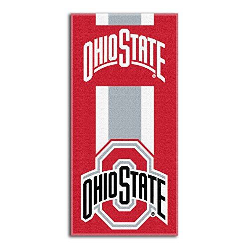Laid Out Beach Towel - Northwest NCAA Ohio State Buckeyes  Beach Towel,  30 x 60-inch