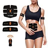 Abdominal Muscle Toner Abs Training Gear Body Fit Toning Belt Wireless Muscle Exercise For Abdomen/Arm/Leg Training IMATE Smart muscle Trainer Portable Home/Office Workout Equipment Support Men&Women