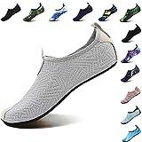 VIFUUR Footwear Indoor Slipper Yoga Sock Shoes Comfort Water Shoes for Men Women C Grey 40/41