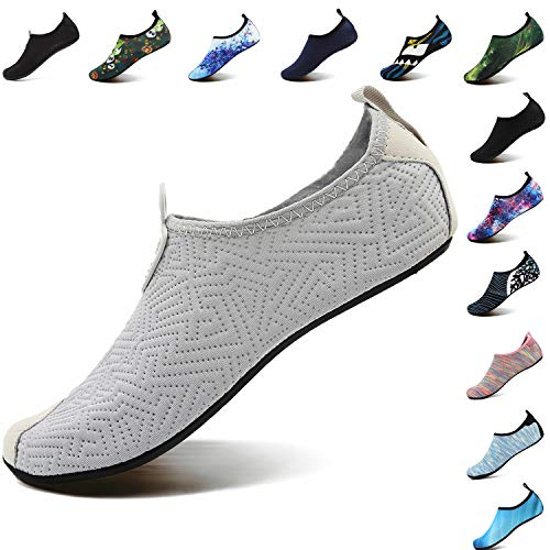 VIFUUR Footwear Indoor Slipper Yoga Sock Shoes Comfort Water Shoes for Men Women C Grey 38/39