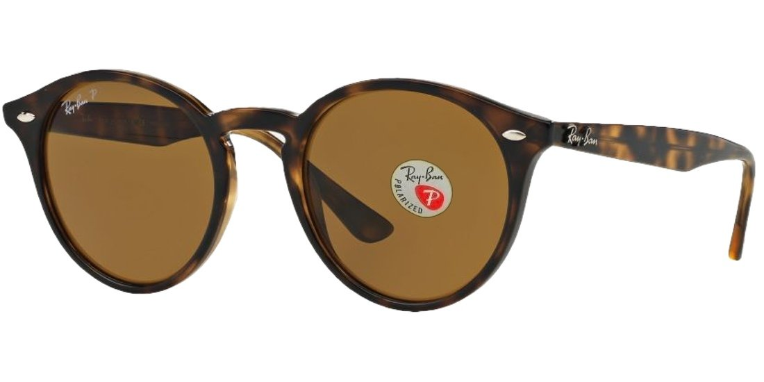 Ray-Ban RB2180 Highstreet Sunglasses (49 mm, Havana Frame Polarized Brown Lens) by Ray-Ban