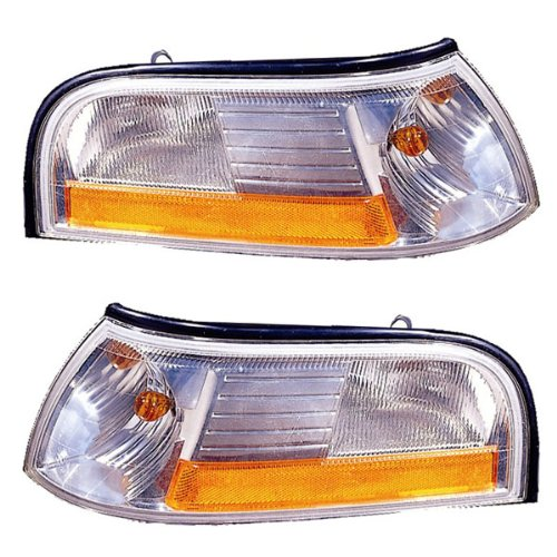 2003-2004-2005 Mercury Grand Marquis Park Corner Light Turn Signal Marker Lamp Set Pair Left Driver AND Right Passenger Side (03 04 05)