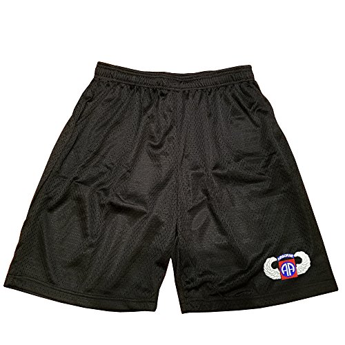 82nd Airborne Wing Military Athletic Jersey Mesh Basketball Shorts ()